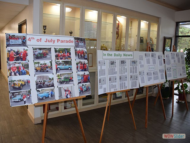 Display of our events this past year