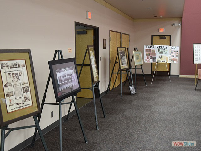 Displays of J.H. Kelly historical documents
