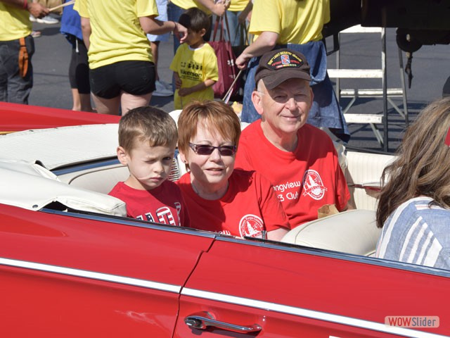 President Carolyn Caines and family rate a Cadillac